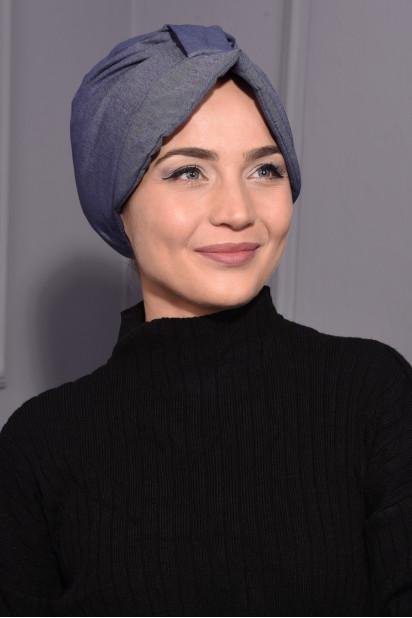 Kot Şapka Bone Açık Kot Mavisi