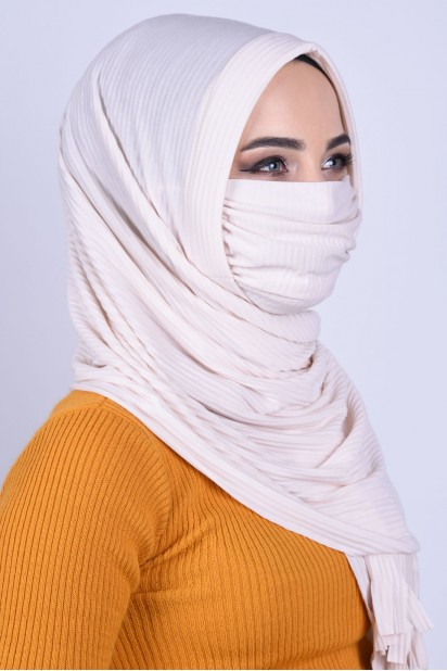 Maskeli Şal Krem