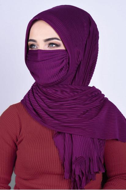 Maskeli Şal Mor