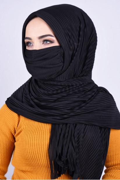 Maskeli Şal Siyah