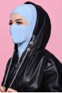 Maskeli Spor Hijab Bebe Mavisi