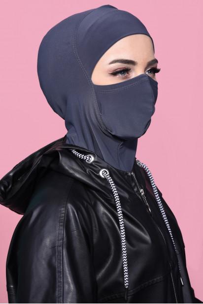 Maskeli Spor Hijab Füme