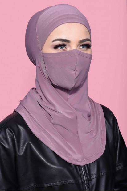 Maskeli Spor Hijab Gül Kurusu