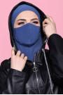 Maskeli Spor Hijab İndigo