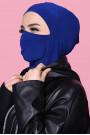 Maskeli Spor Hijab Saks Mavisi