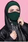 Maskeli Spor Hijab Zümrüt Yeşili
