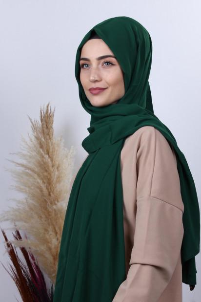Medine İpeği Şal Zümrüt Yeşili
