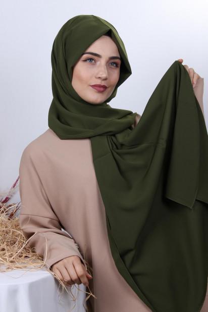 Medine İpeği Şal Haki Yeşili