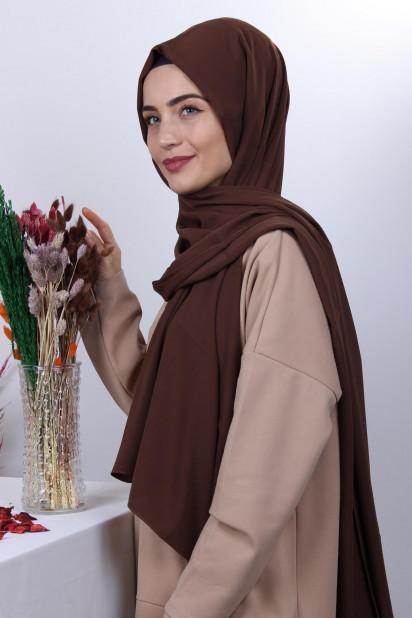 Medine İpeği Şal Kahverengi
