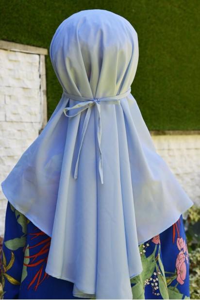 Nowa Bağlamalı Hijab Bebe Mavisi