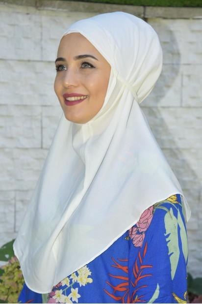 Nowa Bağlamalı Hijab Ekru