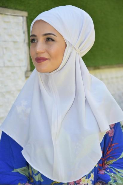 Nowa Bağlamalı Hijab Gümüş Gri