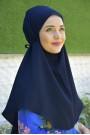 Nowa Bağlamalı Hijab Lacivert