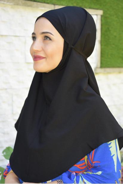Nowa Bağlamalı Hijab Siyah
