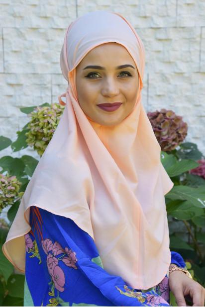 Nowa Bağlamalı Hijab Somon