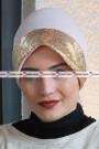 ŞAPKA BONE GOLD PAYETLİ Somon