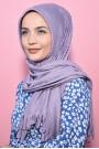 Pliseli Hijab Şal Lila