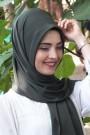 Pratik Hijab Şal Haki Yeşili