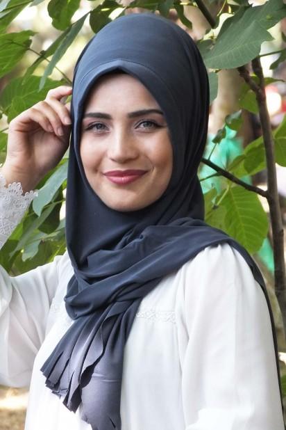Pratik Hijab Şal Füme
