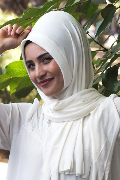 Pratik Hijab Şal Ekru