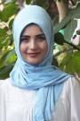 Pratik Hijab Şal Bebe Mavisi