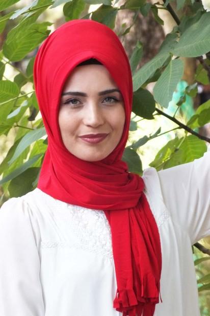 Pratik Hijab Şal Kırmızı