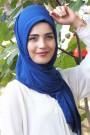 Pratik Hijab Şal Saks Mavisi