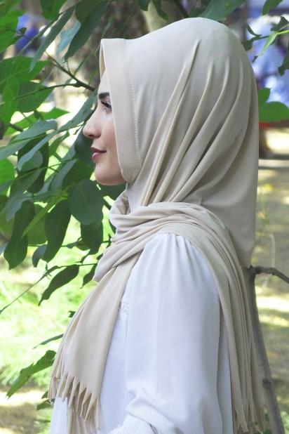 Pratik Hijab Şal Bej