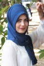 Pratik Hijab Şal İndigo
