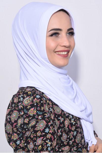 Pratik Hijab Şal Beyaz