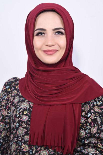 Pratik Hijab Şal Bordo