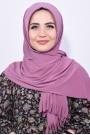 Pratik Hijab Şal Koyu Gül Kurusu