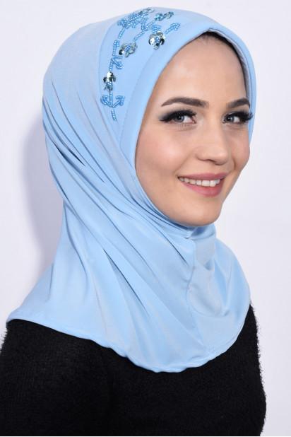 Pratik Pullu Hijab Bebe Mavisi