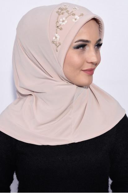 Pratik Pullu Hijab Bej