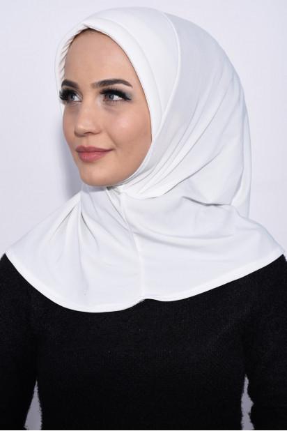 Pratik Pullu Hijab Ekru