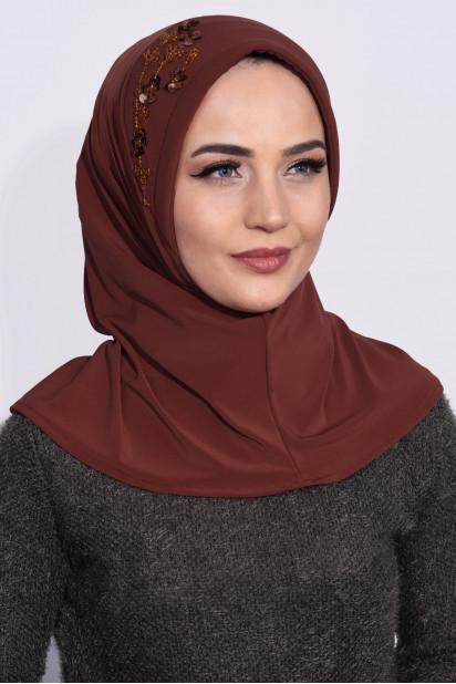 Pratik Pullu Hijab Kiremit