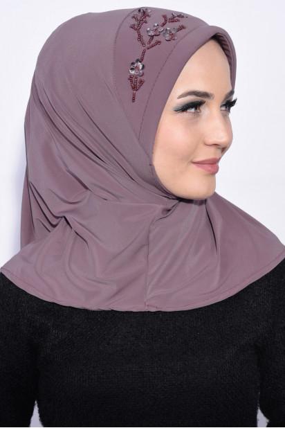 Pratik Pullu Hijab Leylak