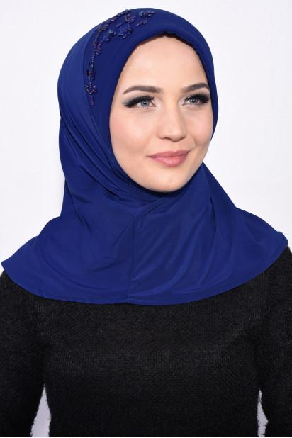 Pratik Pullu Hijab Saks Mavisi
