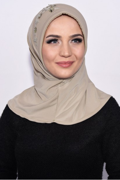 Pratik Pullu Hijab Taşrengi