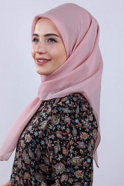 Prenses Eşarp Pudra Pembesi