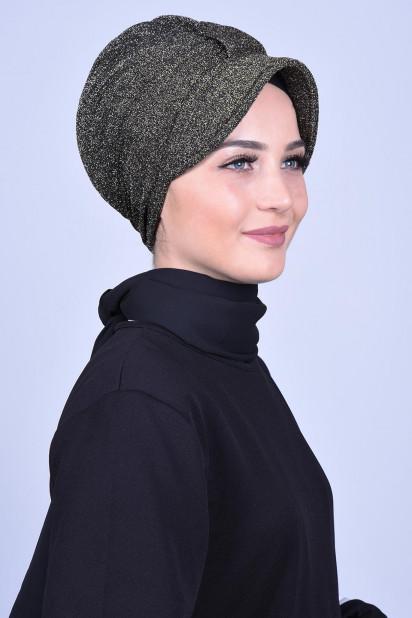 Simli Şapka Bone Bronz