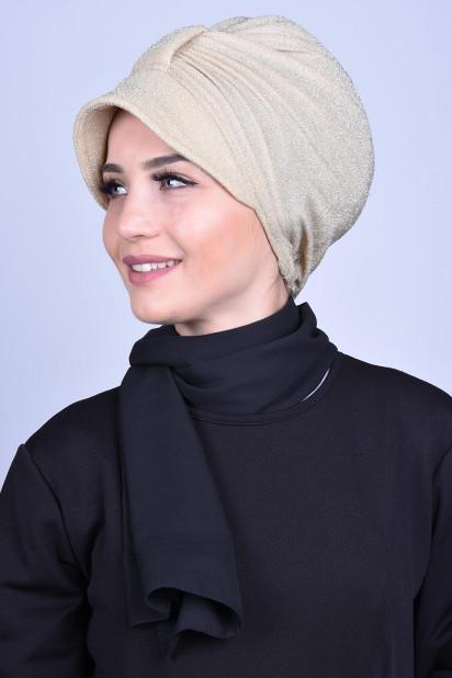 Simli Şapka Bone Gold Sarı