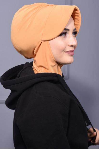Spor Şapka Scarf Hardal Sarısı