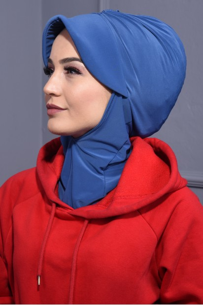 Spor Şapka Scarf İndigo