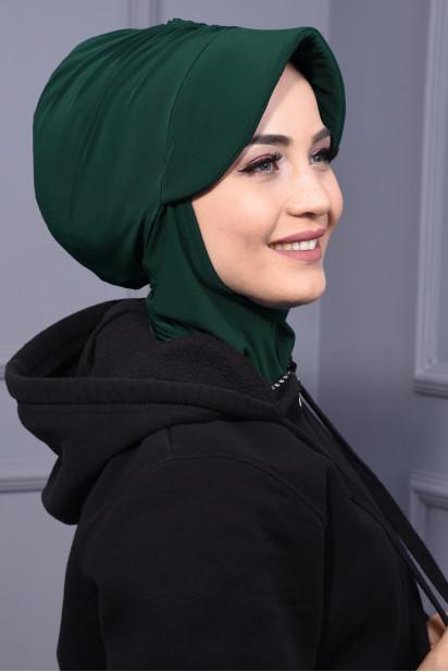 Spor Şapka Scarf Zümrüt Yeşili