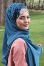 Tasarım Prenses Şal Petrol Mavisi