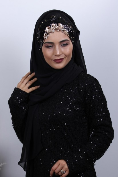 Tasarım Prenses Şal Siyah