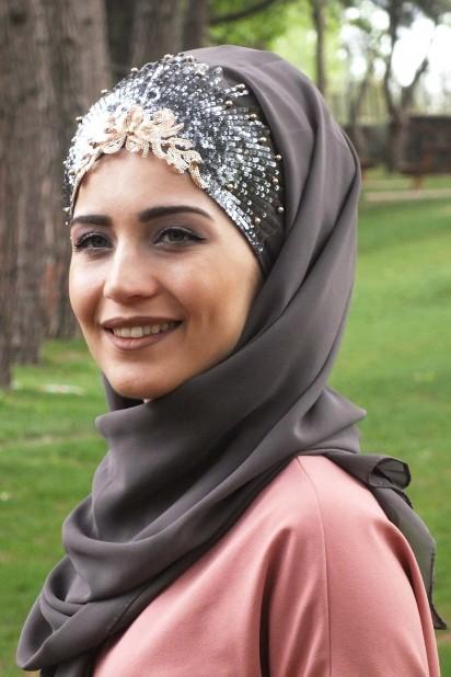 Tasarım Prenses Şal Vizon