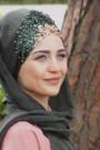 Tasarım Prenses Şal Haki Yeşili