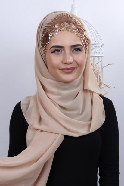 Tasarım Prenses Şal Bej